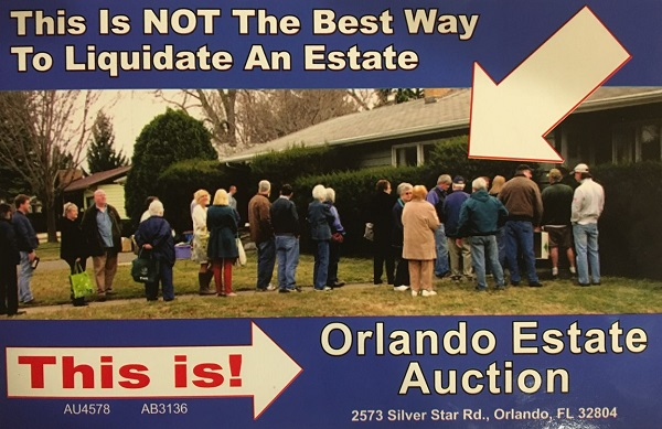 estate sale in Winter Garden Florida